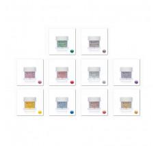 Sadá flitrových farebných akrylov 9 ks