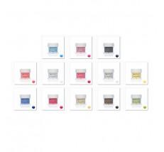 Sadá trblietavých farebných akrylov 13 ks